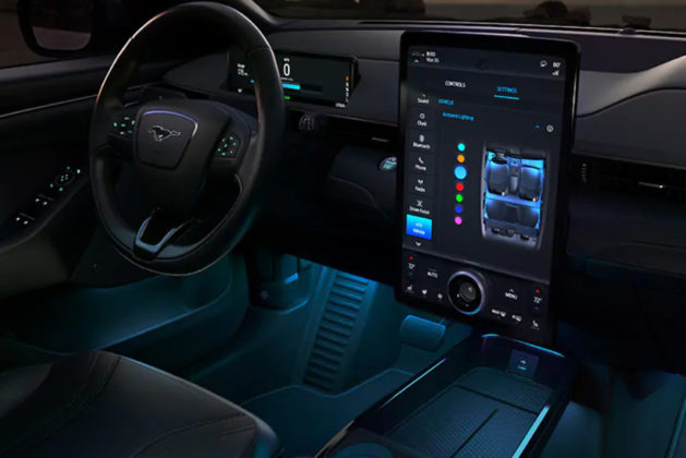 ford mustang mach-e electric suv dashboard