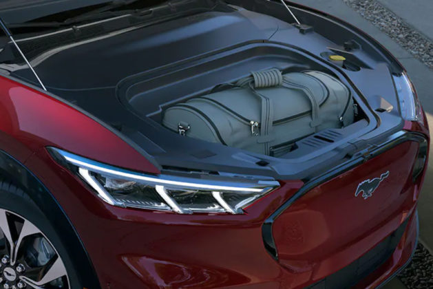 ford mustang mach-e electric suv front storage