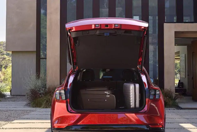 ford mustang mach-e electric suv trunk