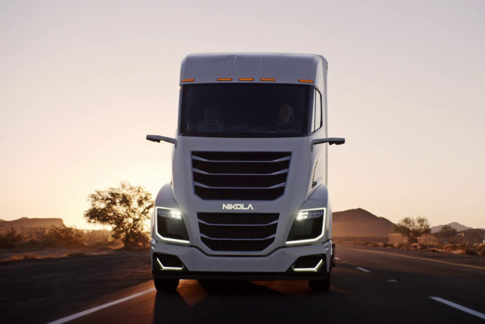 nikola two electric semi-truck