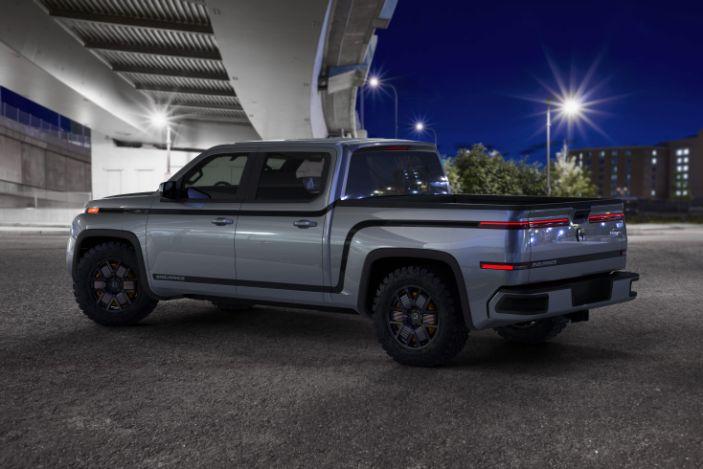 Endurance electric pickup truck back