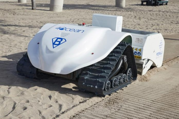 Bebot beach cleaning robot